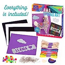 easy llama string art complete craft kit llama love yarn art