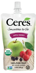 Apple Berry Smoothie no sugar added