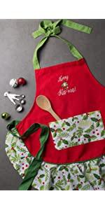 christmas apron,women apron,holiday apron,cute apron