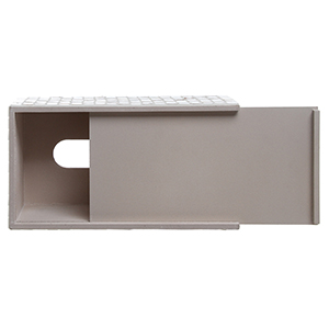 Mirrored glass mosaic rectangular tissue box holder cover featuring slide out bottom