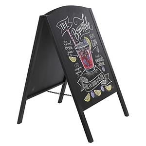 double sides sidewalk a-frame chalkboard sign with black frame