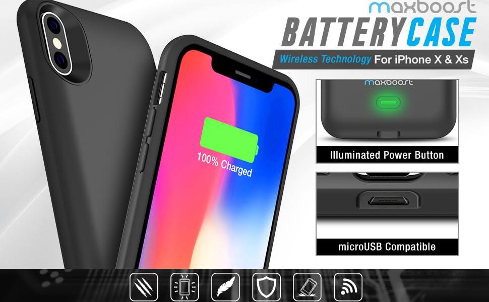 iPhone XS Wireless Battery Case