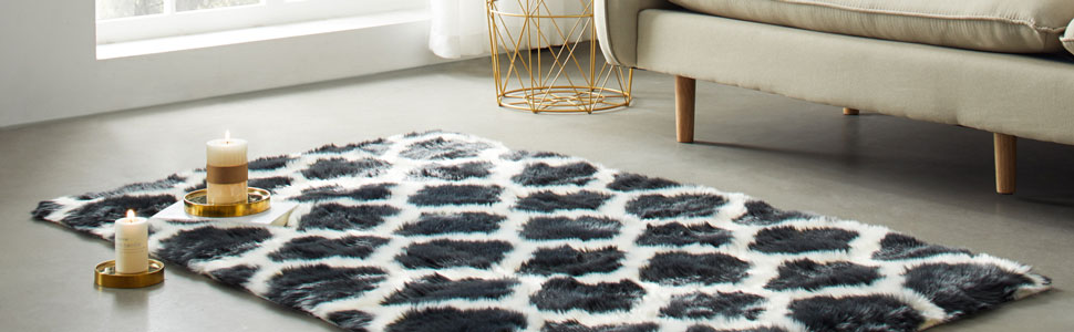 Silky Super Soft White Faux Sheepskin Shag Rug Faux Fur Great for Photography Decor Bedroom
