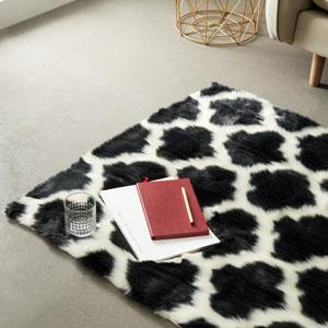 LEEVAN Shaggy Collection Moroccan Shag Collection luxurious Polyester Area Rug