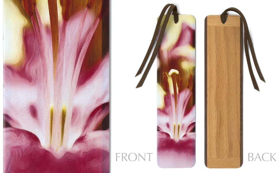 Mitercraft Wood Bookmark With Lily Flower