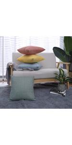 Jepeak burlap linen throw pillow covers