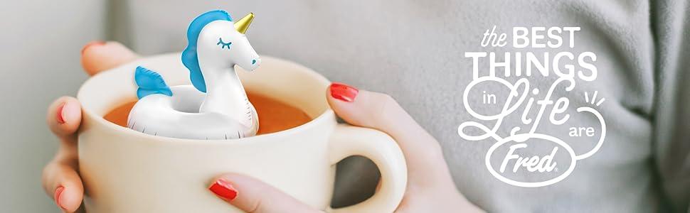 unicorn, mug, tea, hot, tea infuser, loose leaf, tea lover, gift,