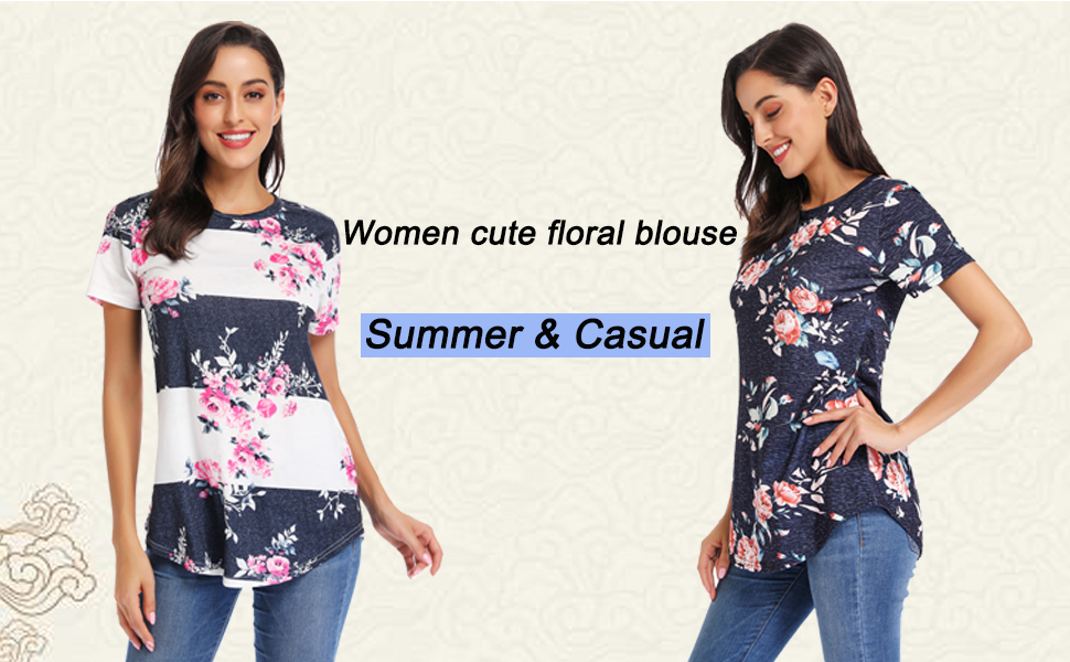 casual shirts for women floral