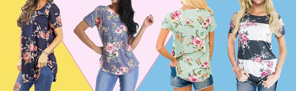 summer blouses for women short sleeve