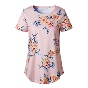 floral blouse for women pink