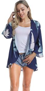 floral cardigans for women blue