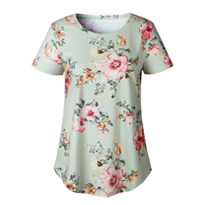 floral blouse for women green