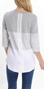 striped tops for women casual