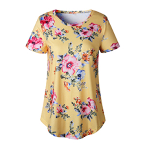 floral blouse for women yellow
