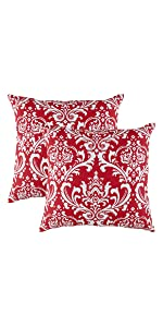 TreeWool Throw Pillow Covers Red