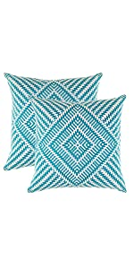 TreeWool Throw Pillow Covers - Turquoise