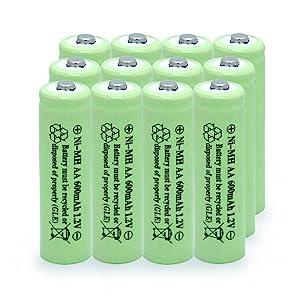 solar light batteries 1.2v
