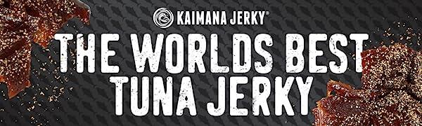 Kaimana Jerky Ahi Tuna Jerky Made Fresh in Hawaii. Delicious, Tasty, Pure Protein Source for body.