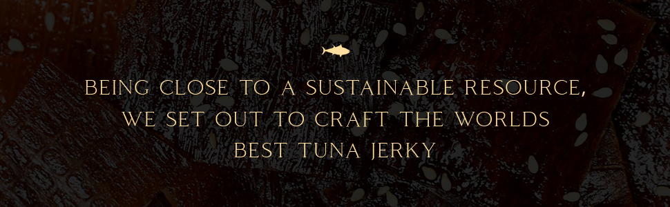 Sustainably Sourced Yellowfin Ahi Tuna Jerky Made with the best ingredients. Tasty, delicious snack