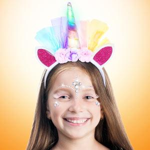 set unicorn headband led glow in the dark party favor supply