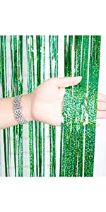Green 3.2*9.8ft Foil Curtains