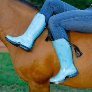 Teal on horse