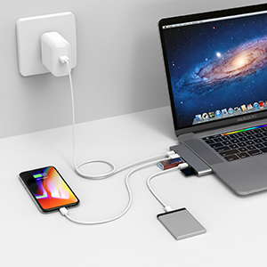 MacBook Pro Usb Type c Hub Adapter Thunderbolt 3.0 Dongle PD SD HDMI 4K Data USB C