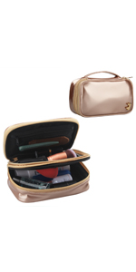 small makeup bag rose gold