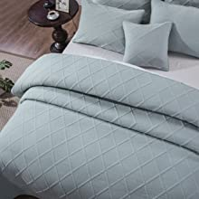 very pale light blue blanket set