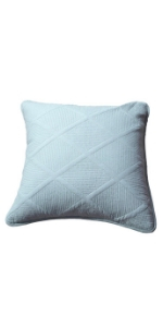 pastel light baby blue decorative bed accent throw pillow cover