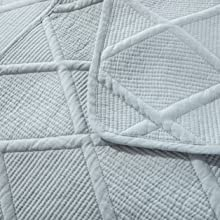 reversible blue quilted coverlet quilt cotton blanket set