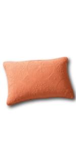 orange decorative pillow sham cover bed accessory
