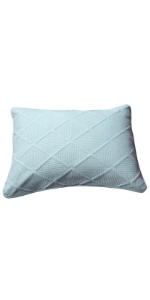 cotton pastel light baby blue decorative bed pillow sham