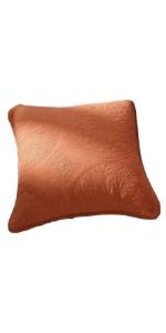 large euro pillow sham orange