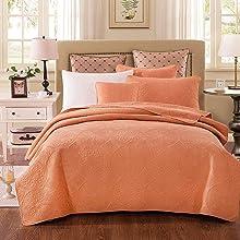 light pastel orange color bedding bed set