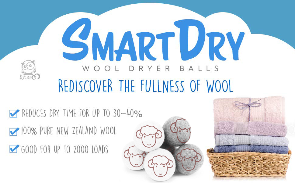 organic wool dryer balls for towel fluffing 2000 loads