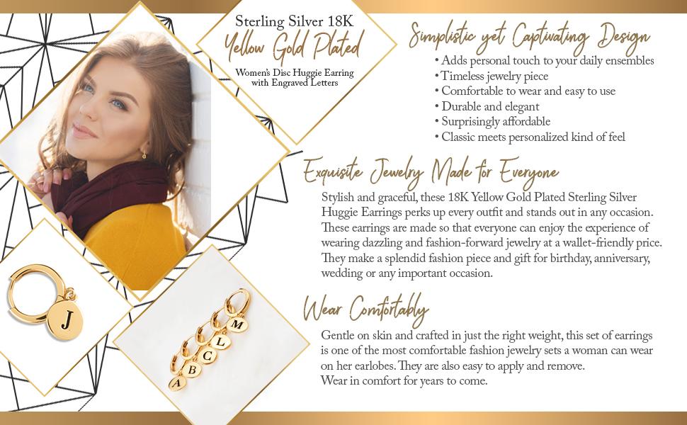 gold plate earring huggies ear jewelry gold plated jewelry silver huggie earrings for women