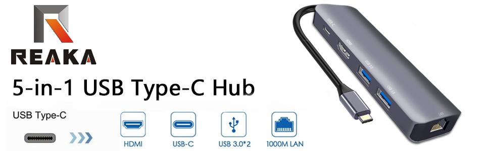 USB C Multiport Adapter for Apple iPad Pro 2018,MacBook Air 2018,MacBook Pro 2018,2017,2016,USB CHuB