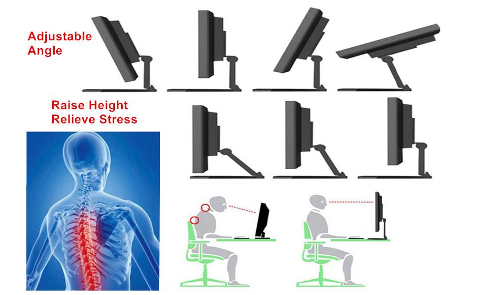 Adjustable angle height
