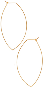 Octagon Hoop Earrings - Hypoallergenic Lightweight Open Wire Threader Drop Dangles for Women