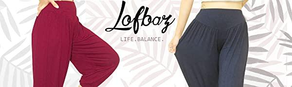 Lofbaz Women's Soft Modal Yoga Pilates Harem Pants Workout Dance Genie Loungers