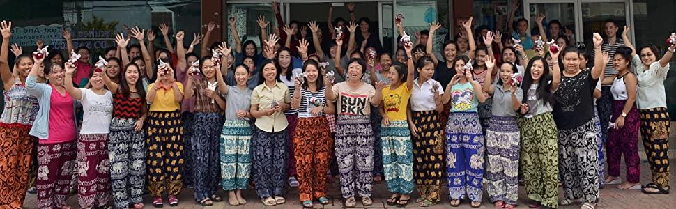 Lofbaz Cotton Harem Yoga Pants Men Women Thai Hippie Baggy Boho Aladin Trousers
