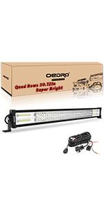 32 Inches 648W Quad Row Led Light Bar