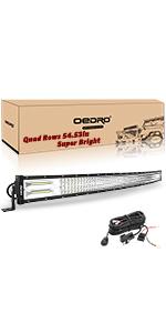 52 Inches 1152W Quad Row Led Light Bar
