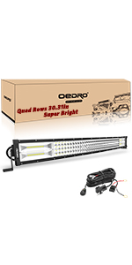 32 Inches 768W Quad Row Led Light Bar