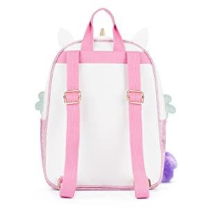 Back of unicorn backpack