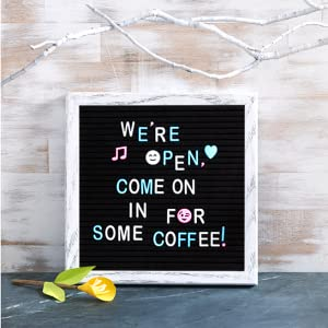 coffee shop board sign