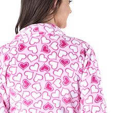 PajamaMania womens soft plush fleece bathrobe gift idea loungewear mom sister wife girlfriend pjs