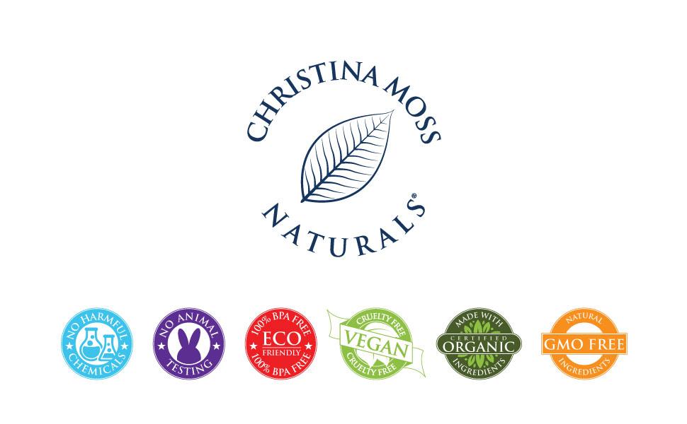 No Harsh Chemicals Cruelty-Free Friendly Vegan Organic Certified GMO-Free No Animal Testing Eco