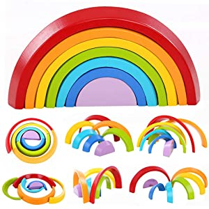 waldorf toys,wooden forest rings,wood rainbow toys,wooden toys,rainbow toys,educational toys Easter gifts MONTESSORI toys open ended toys